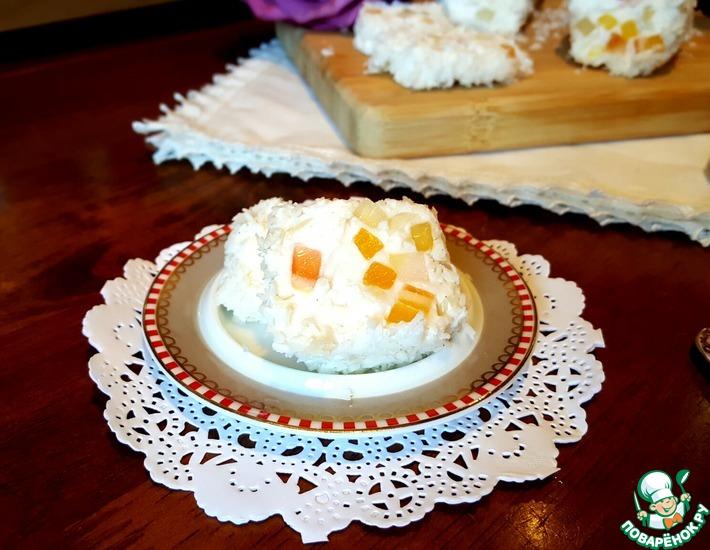 Рецепт: Мягкий десертный сыр с цукатами и миндалём