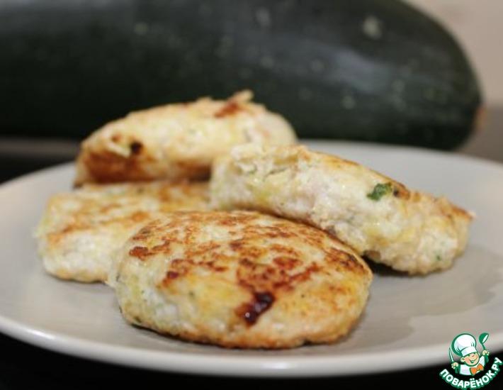 Рецепт: Котлеты из курицы и кабачка