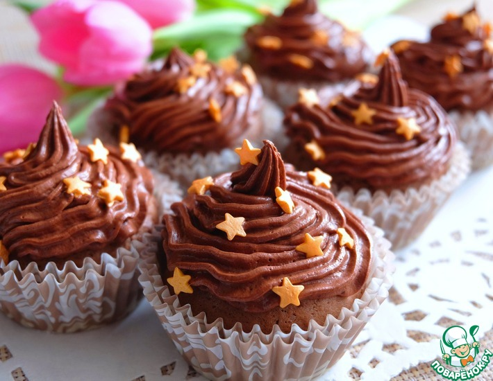 Рецепт: Капкейки шоколадные Сказки Шахерезады