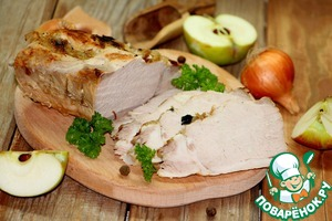 Passirovanny pork hot or a sandwich