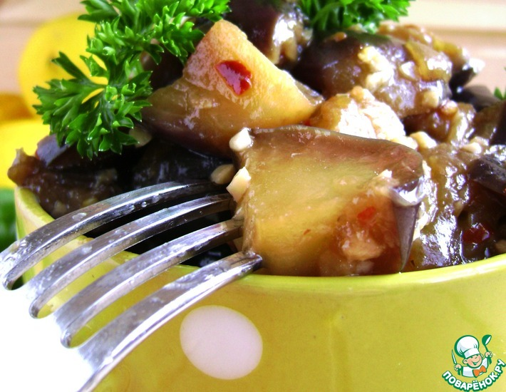 Рецепт: Тушеные баклажаны в медовом соусе