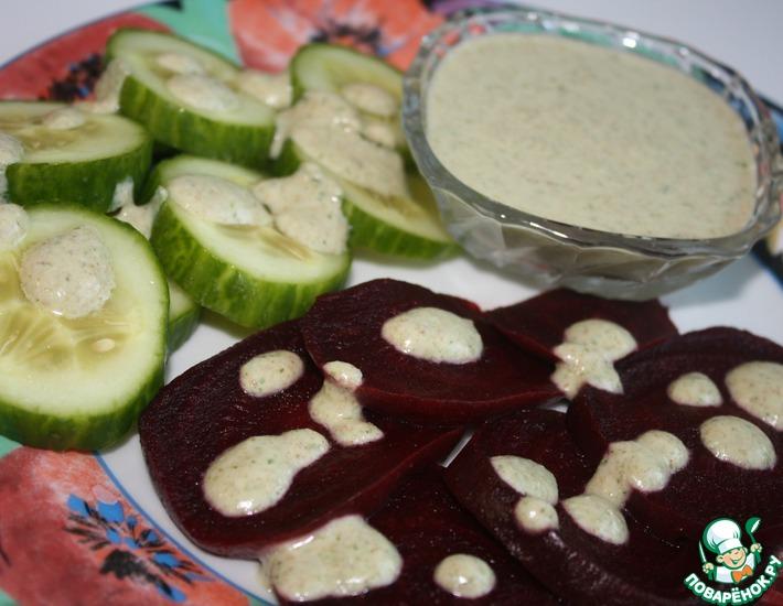 Рецепт: Греческий хлебно-ореховый соус Скордалья