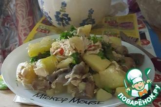 Рецепт: Жаркое с кабачками и грибами