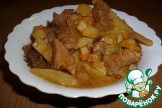Рецепт: Азу по-татарски в мультиварке-скороварке