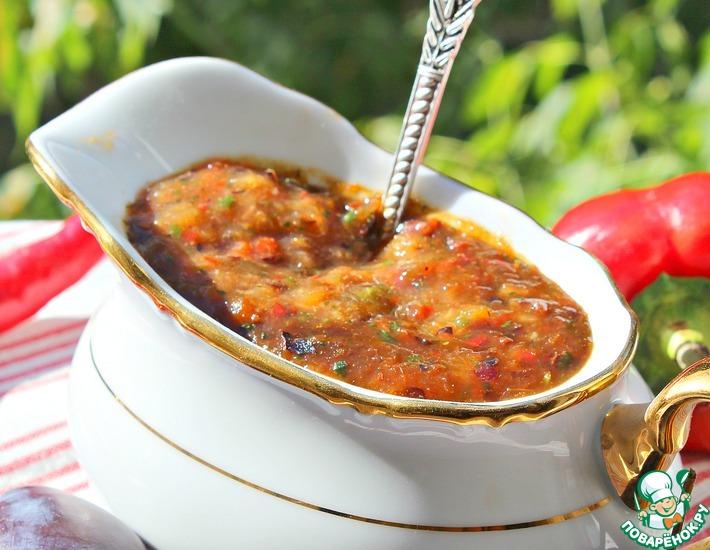 Рецепт: Мой любимый соус из свежих слив