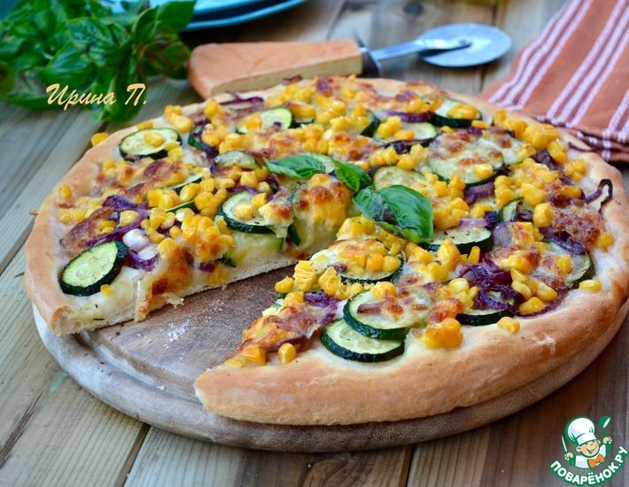 Рецепт: Белая летняя пицца с цуккини