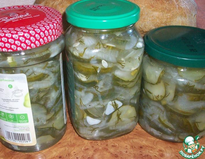 Рецепт: Салат огуречный Нежинский