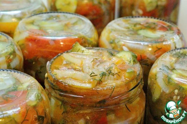 Рецепт салата из помидор для закатки