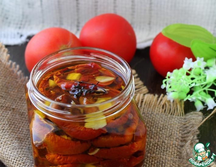 Рецепт: Вяленые помидоры с имбирем