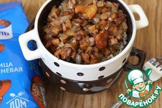 Рецепт: Польская гречка с яйцом на сметане