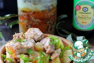 Рецепт: Тушенка из свинины с барбарисом