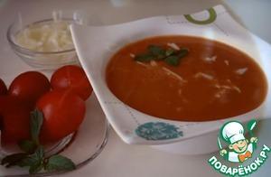 Рецепт: Томатный суп-пюре с кальмарами