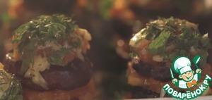 Рецепт: Кабачок, Баклажан и маринованная Помидорка