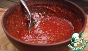 Рецепт: Томатный соус для пиццы