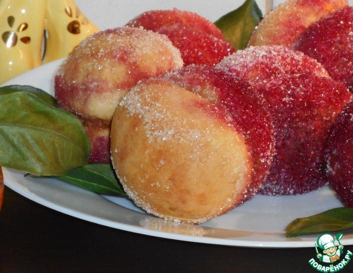 Рецепт: Пирожное Персики