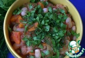 Рецепт: Салат из фасоли и сладкого перца