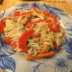 Вермишель с овощами и мясом