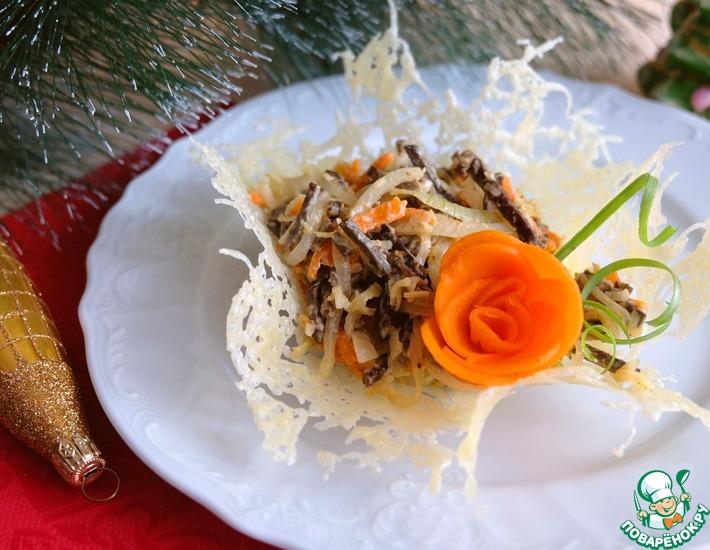 Рецепт: Салат Печеночный с сыром