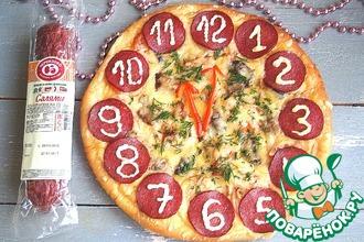 Рецепт: Пицца Часы