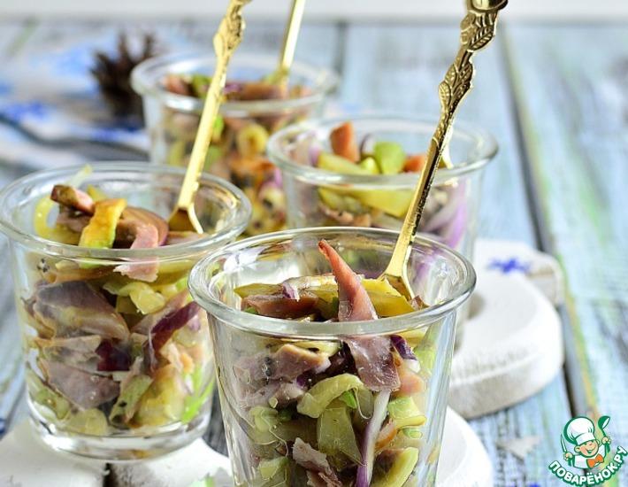 Рецепт: Закуска в верринах Бёфжульён