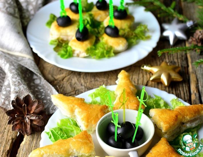 Рецепт: Новогодние легкие закуски с творогом