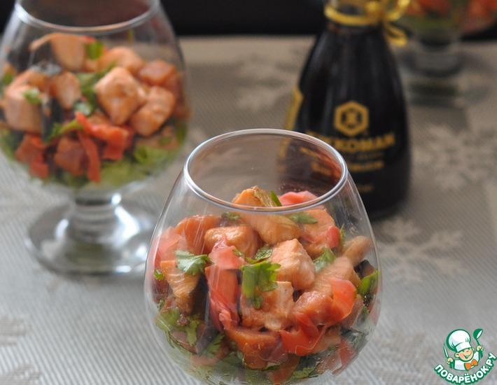 Рецепт: Салат из рыбы Секрет