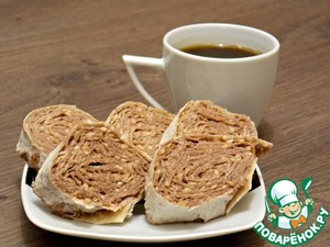 Sweet loaf of pita bread