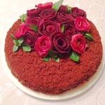 Торт «Наполеон» с горьким шоколадом