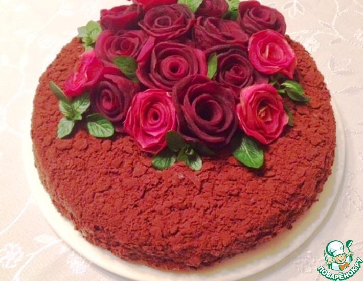 Рецепт: Торт «Наполеон» с горьким шоколадом