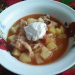Картофель с курицей в соусе по-кубански