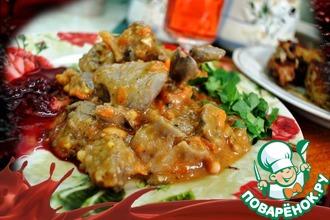 Рецепт: Куриные потроха по-мексикански
