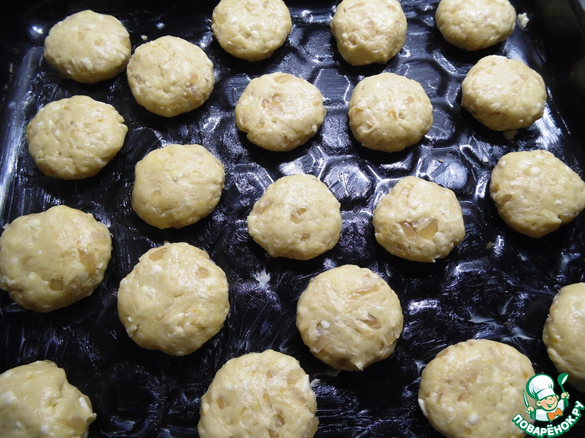 Тыквенно-сырное печенье к вину