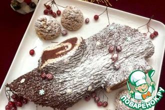 Рецепт: Рождественское полено с каштановым кремом