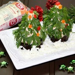 Порционный салат Новогодняя Ёлочка
