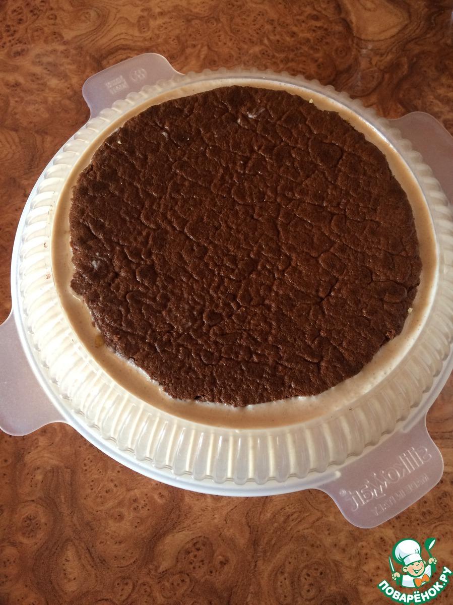 Шоколадный муссовый торт с карамельным желе
