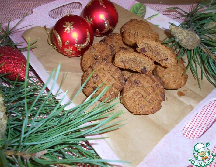 Рецепт: Имбирно-гречневое печенье