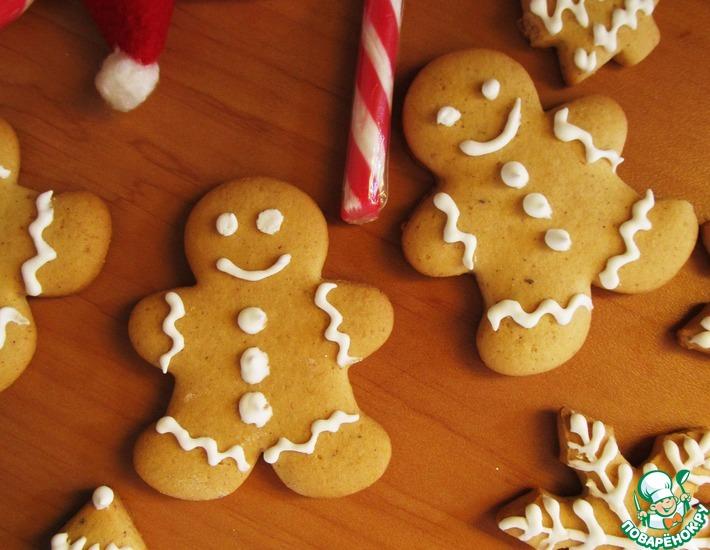 Рецепт: Простое имбирное печенье
