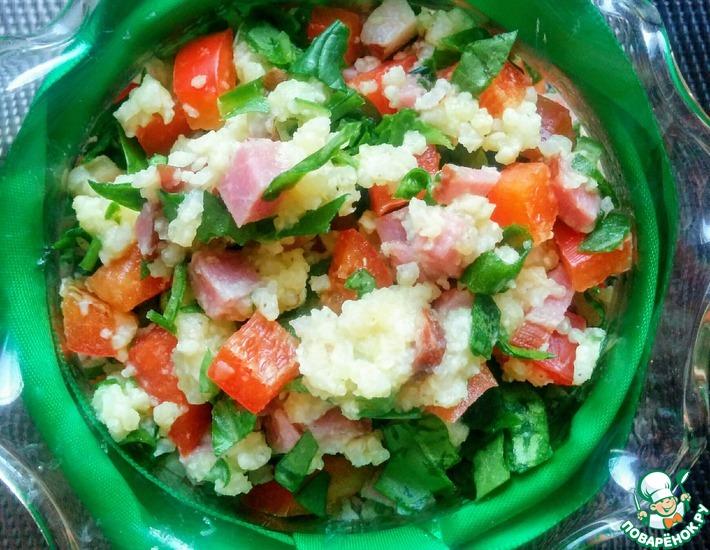 Рецепт: Салат из пшенной каши
