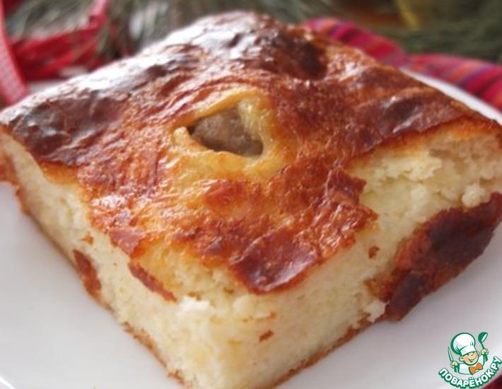 Рецепт: Сырный пирог с мясными шариками