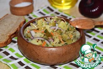 Рецепт: Картофельный салат Минутное дело
