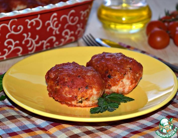 Рецепт: Мясные котлеты с овощами Сочные