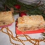 Торт Наполеон с картофелем и грибами