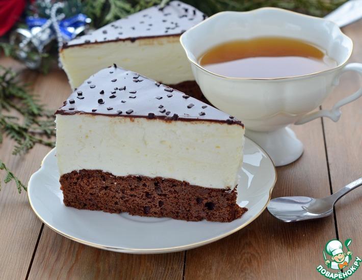 Рецепт: Торт-суфле на брауни