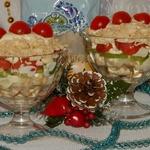 Порционный салат «Петушиные гребешки»
