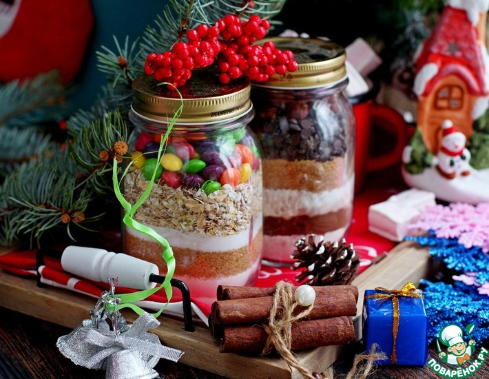 Рецепт: Печенье в банке