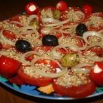 Закуска с помидорами по-египетски