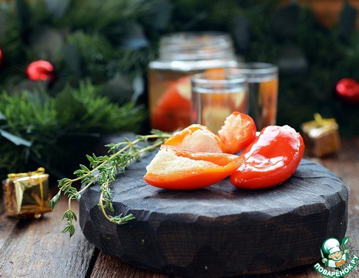 Рецепт: Фаршированные перцы в медовом маринаде