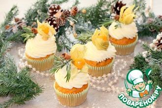 Рецепт: Новогодние капкейки Зимняя сказка