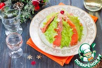 Рецепт: Салат Мимоза с сыром и красной рыбой
