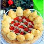 Закусочный торт Сент-Оноре с тунцом